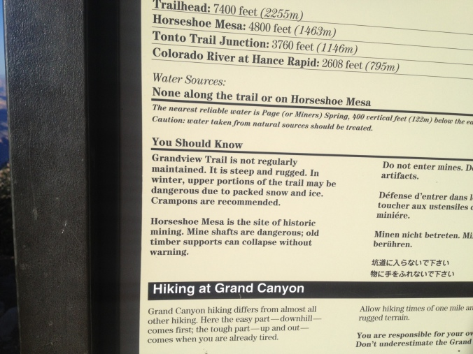 Grandview Trail sign