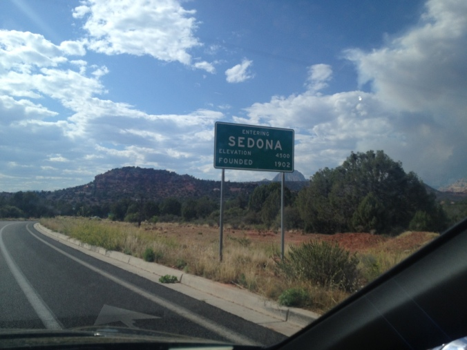 Entering Sedona, Arizona