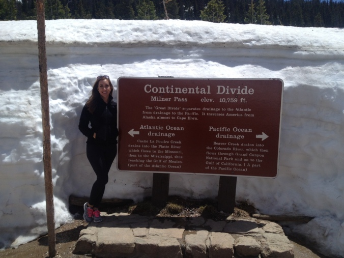 At the Continental Divide!