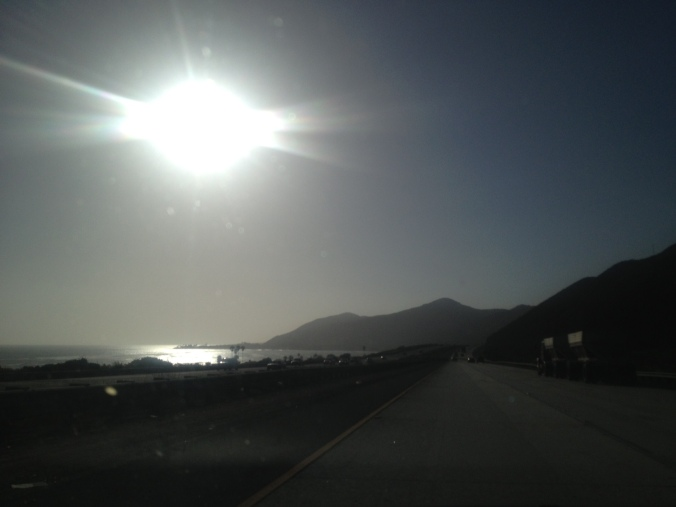 Coming up U.S. Route 101 from Ventura, California
