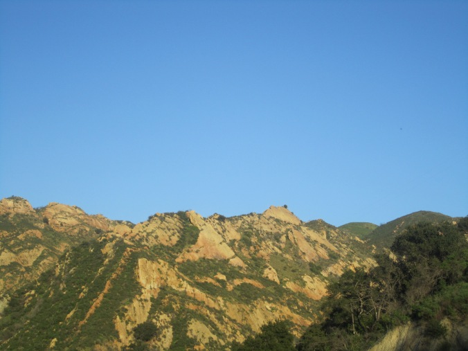 A view of the landscape just north of Santa Barbara, California.