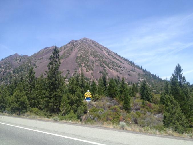 A minion bids adieu to drivers leaving California