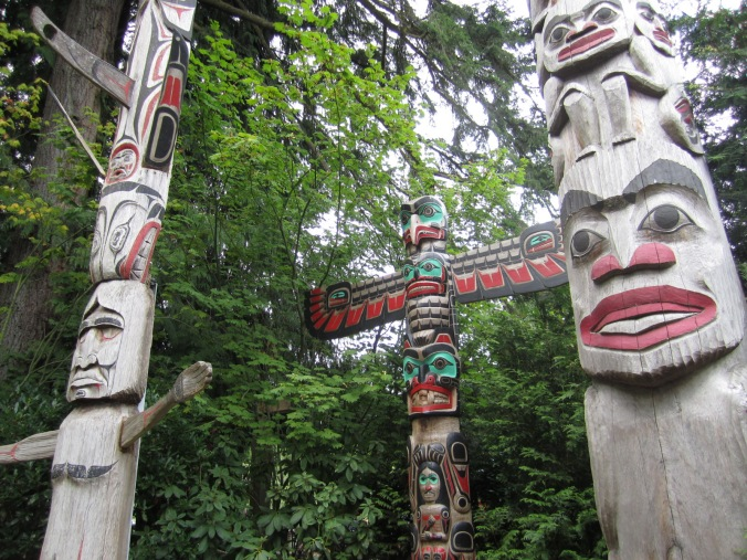 Totem poles near the Capilano Suspension Bridge